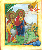 Flight to Egypt - after Coptic style icon