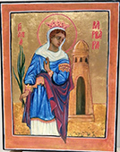 Saint Barbara icon